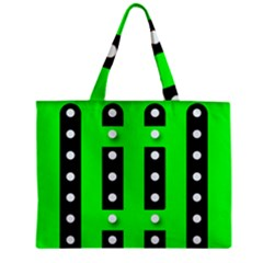 Florescent Green Polka Dot  Zipper Tiny Tote Bags by OCDesignss