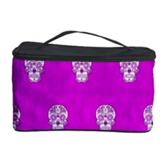 Skull Pattern Hot Pink Cosmetic Storage Cases by MoreColorsinLife