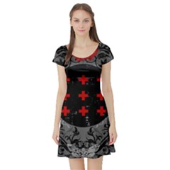 Occult Theme #2 Short Sleeve Skater Dresses by Lab80