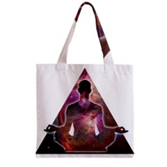 Deep Meditation #2 Grocery Tote Bags by Lab80