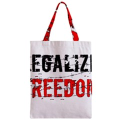 Legalize Freedom Zipper Classic Tote Bags by Lab80