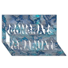 Marbled Lava Blue Congrats Graduate 3d Greeting Card (8x4)  by MoreColorsinLife