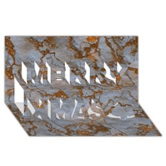 Marbled Lava Orange Merry Xmas 3d Greeting Card (8x4)  by MoreColorsinLife