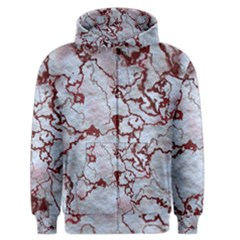 Marbled Lava Red Men s Zipper Hoodies by MoreColorsinLife