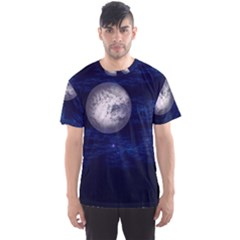 Moon And Stars Men s Sport Mesh Tees by theunrulyartist