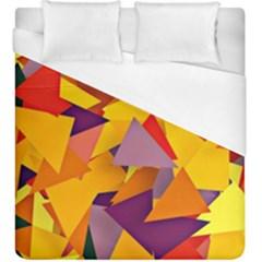 Geo Fun 8 Colorful Duvet Cover Single Side (KingSize) by MoreColorsinLife