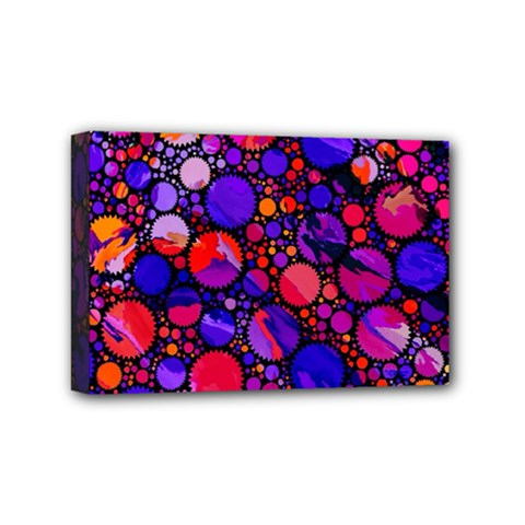 Lovely Allover Hot Shapes Mini Canvas 6  x 4  by MoreColorsinLife