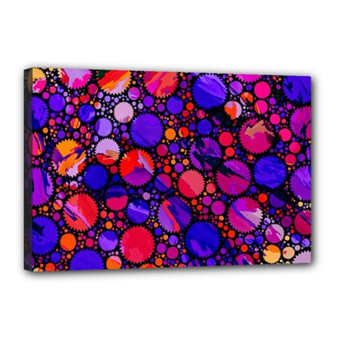 Lovely Allover Hot Shapes Canvas 18  X 12  by MoreColorsinLife