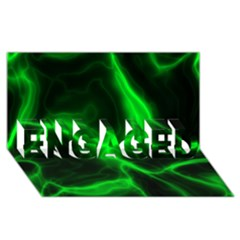 Cosmic Energy Green Engaged 3d Greeting Card (8x4)  by ImpressiveMoments