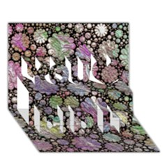 Sweet Allover 3d Flowers You Did It 3d Greeting Card (7x5)