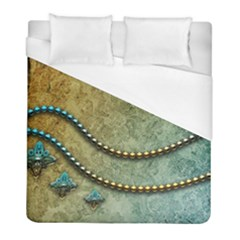 Elegant Vintage With Pearl Necklace Duvet Cover Single Side (twin Size) by FantasyWorld7
