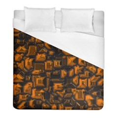 Metalart 23 Orange Duvet Cover Single Side (twin Size) by MoreColorsinLife