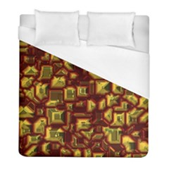 Metalart 23 Red Yellow Duvet Cover Single Side (twin Size) by MoreColorsinLife