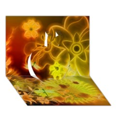 Glowing Colorful Flowers Apple 3d Greeting Card (7x5)  by FantasyWorld7