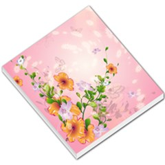 Beautiful Flowers On Soft Pink Background Small Memo Pads by FantasyWorld7