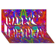 Abstract 1 Happy Birthday 3d Greeting Card (8x4)  by icarusismartdesigns