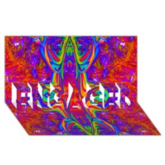 Abstract 1 Engaged 3d Greeting Card (8x4)  by icarusismartdesigns