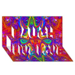 Abstract 1 Laugh Live Love 3d Greeting Card (8x4)  by icarusismartdesigns