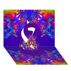 Abstract 2 Ribbon 3d Greeting Card (7x5)