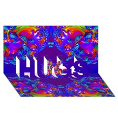 Abstract 2 HUGS 3D Greeting Card (8x4)  by icarusismartdesigns