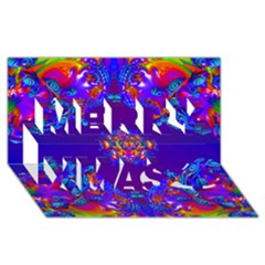 Abstract 2 Merry Xmas 3d Greeting Card (8x4)  by icarusismartdesigns