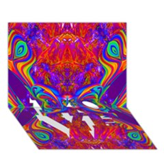 Butterfly Abstract Love Bottom 3d Greeting Card (7x5) by icarusismartdesigns