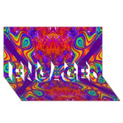 Butterfly Abstract Engaged 3d Greeting Card (8x4) by icarusismartdesigns