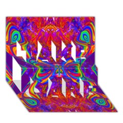 Butterfly Abstract Take Care 3d Greeting Card (7x5) by icarusismartdesigns