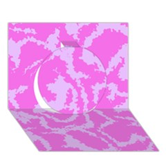 Migraine Pink Circle 3d Greeting Card (7x5)  by MoreColorsinLife