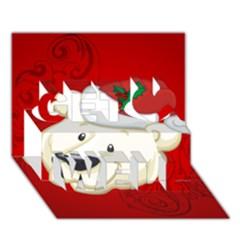 Funny Polar Bear Get Well 3D Greeting Card (7x5)  by FantasyWorld7
