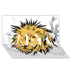 Lion PARTY 3D Greeting Card (8x4)