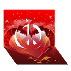 Heart Peace Sign 3d Greeting Card (7x5)  by EnjoymentArt
