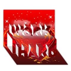Heart Work Hard 3d Greeting Card (7x5)  by EnjoymentArt