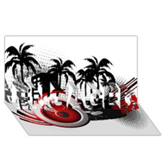 Music, Speaker Engaged 3d Greeting Card (8x4)