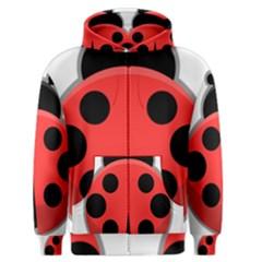Kawaii Ladybug Men s Zipper Hoodies