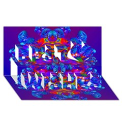 Abstract 4 Best Wish 3d Greeting Card (8x4)  by icarusismartdesigns