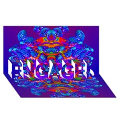 Abstract 4 Engaged 3d Greeting Card (8x4)  by icarusismartdesigns