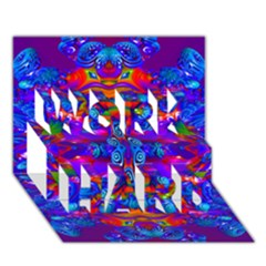 Abstract 4 Work Hard 3d Greeting Card (7x5)  by icarusismartdesigns