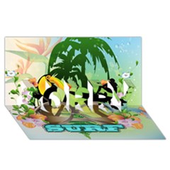 Surfing Sorry 3d Greeting Card (8x4)  by FantasyWorld7