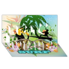 Surfing Best Wish 3d Greeting Card (8x4)  by FantasyWorld7