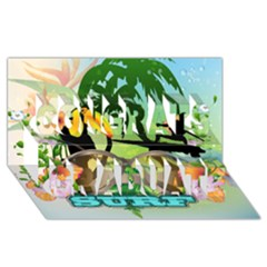 Surfing Congrats Graduate 3d Greeting Card (8x4)  by FantasyWorld7