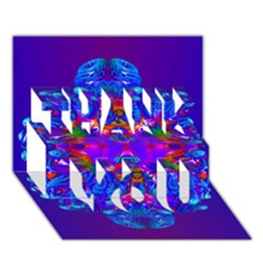 Abstract 5 Thank You 3d Greeting Card (7x5)  by icarusismartdesigns