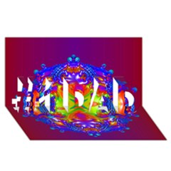 Abstract 6 #1 Dad 3d Greeting Card (8x4)  by icarusismartdesigns