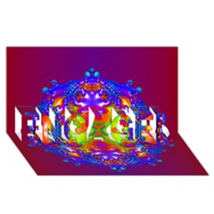 Abstract 6 Engaged 3d Greeting Card (8x4)  by icarusismartdesigns