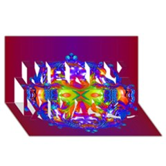 Abstract 6 Merry Xmas 3d Greeting Card (8x4)  by icarusismartdesigns