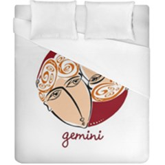Gemini Star Sign Duvet Cover Single Side (double Size) by theimagezone