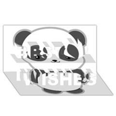 Kawaii Panda Best Wish 3D Greeting Card (8x4)