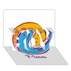 Pisces Star Sign Boy 3d Greeting Card (7x5) by theimagezone