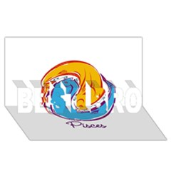 Pisces Star Sign Best Bro 3d Greeting Card (8x4)  by theimagezone