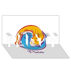 Pisces Star Sign Party 3d Greeting Card (8x4)  by theimagezone